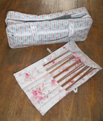 Cath Kidston knitting bag & needles